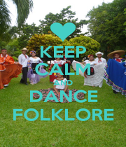 KEEP CALM AND DANCE FOLKLORE - Personalised Poster A4 size