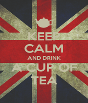 KEEP CALM AND DRINK A CUP OF TEA - Personalised Poster A1 size