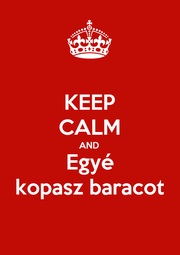 KEEP CALM AND Egyé kopasz baracot - Personalised Poster A1 size