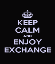 KEEP CALM AND ENJOY EXCHANGE - Personalised Poster A1 size