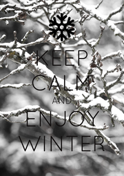 KEEP CALM AND ENJOY WINTER - Personalised Poster A1 size