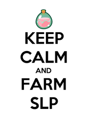 KEEP CALM AND FARM SLP - Personalised Poster A1 size