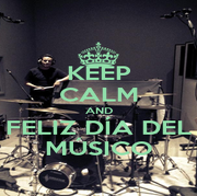 KEEP CALM AND FELIZ DÍA DEL MÚSICO - Personalised Poster A1 size