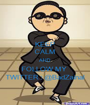 KEEP CALM AND FOLLOW MY  TWITTER : @BadZainal - Personalised Poster A1 size