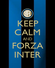 KEEP CALM AND FORZA INTER - Personalised Poster A1 size