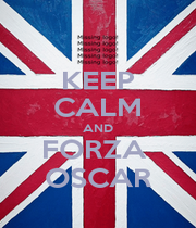 KEEP CALM AND FORZA  OSCAR - Personalised Poster A1 size