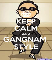 KEEP CALM AND GANGNAM  STYLE - Personalised Poster A1 size