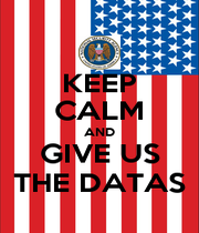 KEEP CALM AND GIVE US THE DATAS - Personalised Poster A1 size