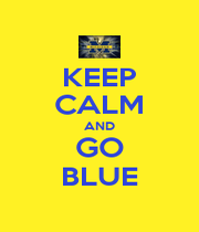 KEEP CALM AND GO BLUE - Personalised Poster A1 size