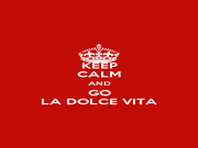 KEEP CALM AND GO LA DOLCE VITA - Personalised Poster A4 size
