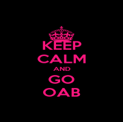 KEEP CALM AND GO OAB - Personalised Poster A4 size