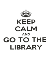KEEP CALM AND GO TO THE  LIBRARY - Personalised Poster A1 size
