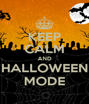 KEEP CALM AND HALLOWEEN MODE - Personalised Poster A4 size