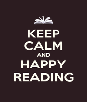 KEEP CALM AND HAPPY READING - Personalised Poster A4 size