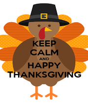 KEEP CALM AND HAPPY THANKSGIVING - Personalised Poster A4 size