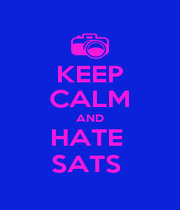 KEEP CALM AND HATE  SATS  - Personalised Poster A1 size