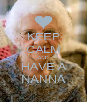 KEEP CALM AND HAVE A NANNA - Personalised Poster A4 size