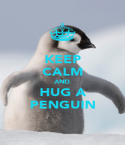 KEEP CALM AND HUG A PENGUIN - Personalised Poster A1 size