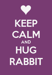 KEEP CALM AND HUG RABBIT - Personalised Poster A1 size