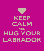 KEEP CALM AND HUG YOUR LABRADOR - Personalised Poster A1 size