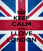 KEEP CALM AND I LOVE LONDON - Personalised Poster A1 size