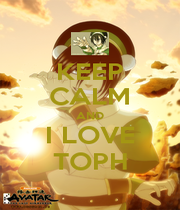 KEEP CALM AND I LOVE TOPH - Personalised Poster A1 size