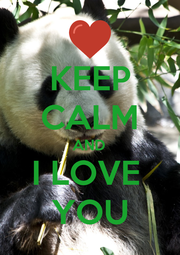 KEEP CALM AND I LOVE  YOU - Personalised Poster A1 size