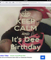 KEEP CALM AND It's Dee Birthday - Personalised Poster A1 size