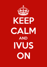KEEP CALM AND IVUS ON - Personalised Poster A1 size