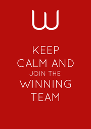 KEEP CALM AND JOIN THE WINNING TEAM - Personalised Poster A1 size