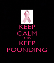 KEEP CALM AND KEEP POUNDING - Personalised Poster A4 size