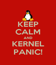 KEEP CALM AND KERNEL PANIC! - Personalised Poster A1 size