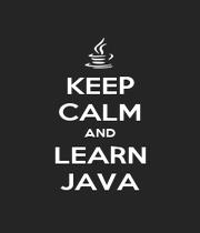 KEEP CALM AND LEARN JAVA - Personalised Poster A1 size