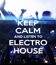 KEEP CALM AND LISTEN TO ELECTRO HOUSE - Personalised Poster A1 size