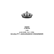 KEEP CALM AND LISTEN TO THE  QUALITY ASSURANCE ENGINEER - Personalised Poster A4 size