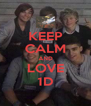 KEEP CALM AND LOVE 1D - Personalised Poster A4 size