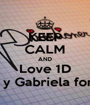 KEEP CALM AND Love 1D Harry y Gabriela forever  - Personalised Poster A4 size