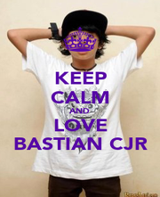 KEEP CALM AND LOVE BASTIAN CJR - Personalised Poster A1 size