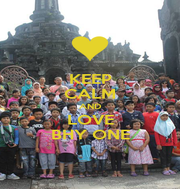 KEEP CALM AND LOVE BHY ONE - Personalised Poster A4 size