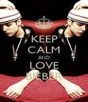 KEEP CALM AND LOVE BIEBER - Personalised Poster A1 size