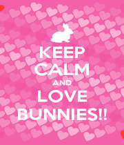 KEEP CALM AND LOVE BUNNIES!! - Personalised Poster A1 size