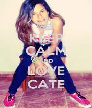 KEEP CALM AND LOVE CATE - Personalised Poster A4 size