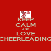 KEEP CALM AND LOVE CHEERLEADING - Personalised Poster A4 size