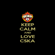 KEEP CALM AND LOVE CSKA - Personalised Poster A1 size