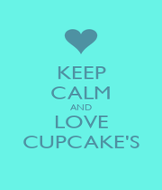 KEEP CALM AND LOVE CUPCAKE'S - Personalised Poster A1 size