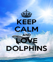 KEEP CALM AND LOVE DOLPHINS - Personalised Poster A4 size