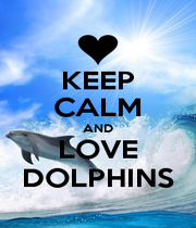 KEEP CALM AND LOVE DOLPHINS - Personalised Poster A1 size