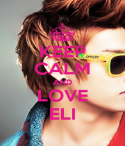 KEEP CALM AND LOVE ELI - Personalised Poster A4 size