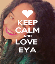 KEEP CALM AND LOVE  EYA - Personalised Poster A4 size