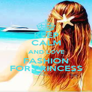 KEEP CALM AND LOVE FASHION FOR PRINCESS - Personalised Poster A4 size